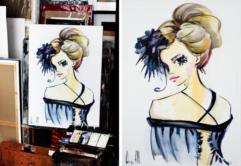 Asya All artiste peintre Ася Олл